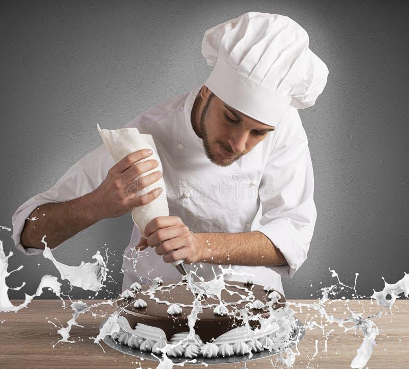 Décoration de chef de pâtisserie image stock