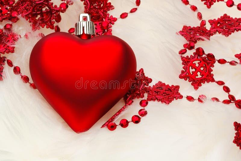 Décoration de coeur de Noël images stock