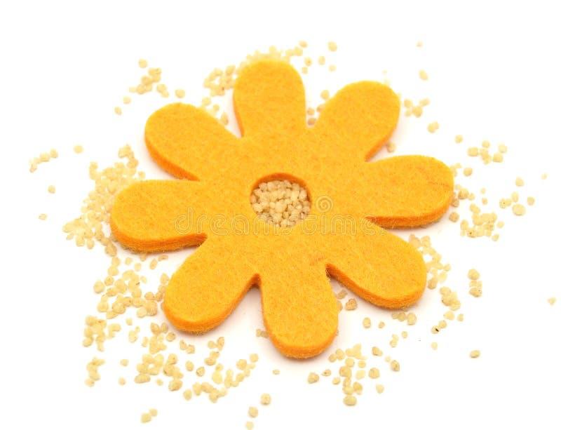 Décoration de couscous et de feutre photographie stock