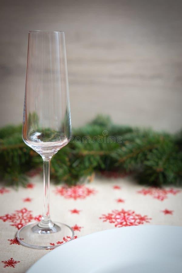 Décoration de dîner de Chrsitmas pour la table photo stock
