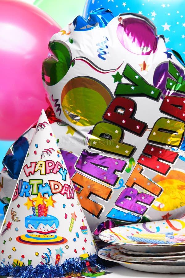 Décoration de fête d'anniversaire photographie stock libre de droits