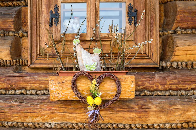 D coration de fen tre de p ques image stock image du for Decoration fenetre paques