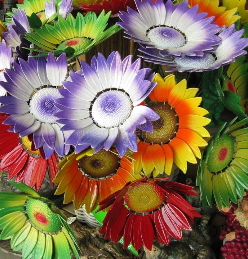 Décoration de fleur en métal image libre de droits