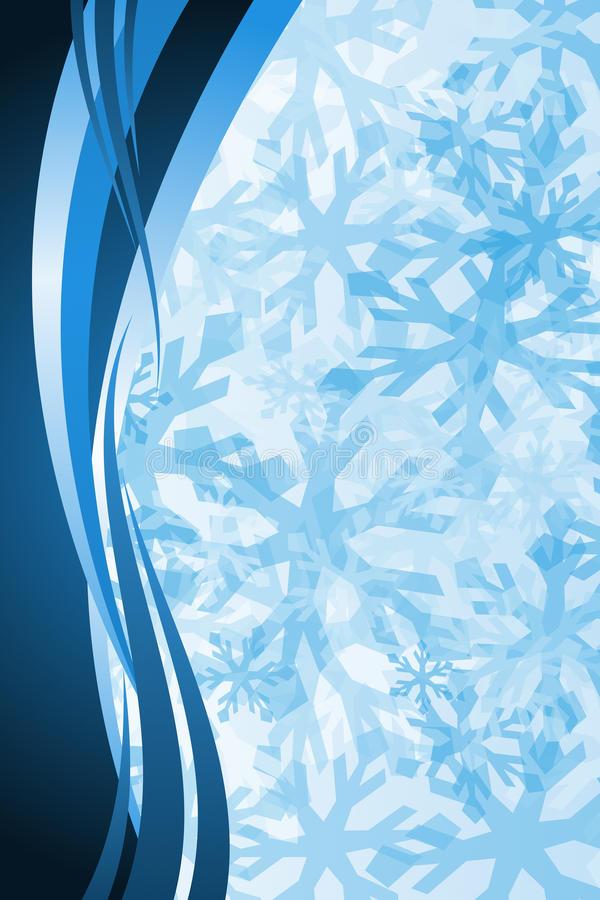 Décoration de flocon de neige de Noël illustration de vecteur