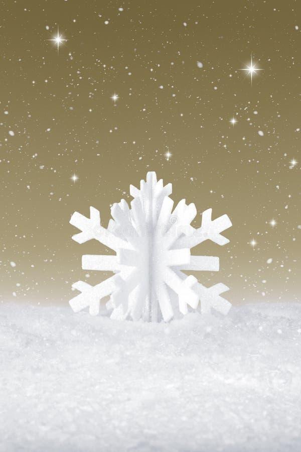 Décoration de flocon de neige de Noël blanc images libres de droits