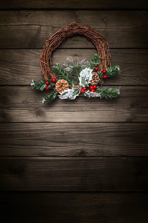 Décoration de guirlande de Noël photographie stock libre de droits