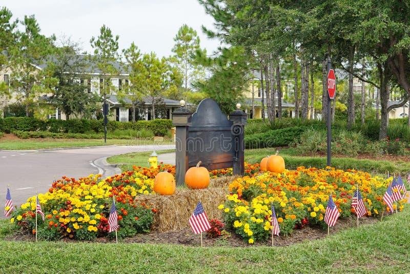 D coration de halloween dans un jardin d 39 un centre de for Centre de jardin