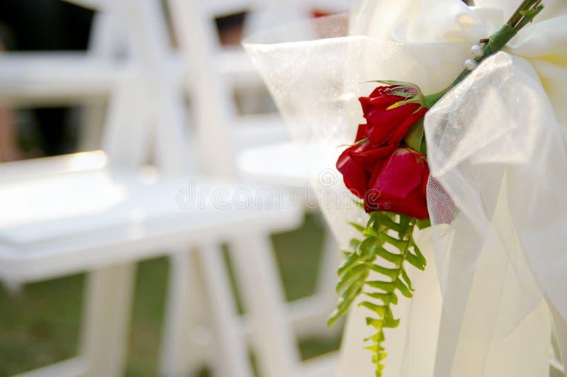 Décoration de jour du mariage images libres de droits