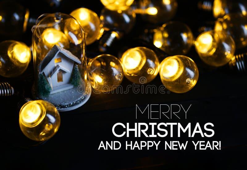 Décoration de Joyeux Noël et de Noël de bonne année blanche Ho photo libre de droits