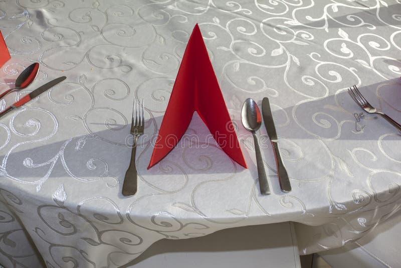 Décoration de la table image stock