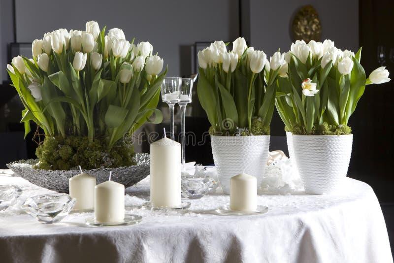 Décoration de la table dinante image stock