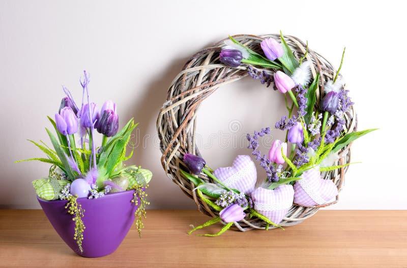 Décoration de maison de Pâques image stock