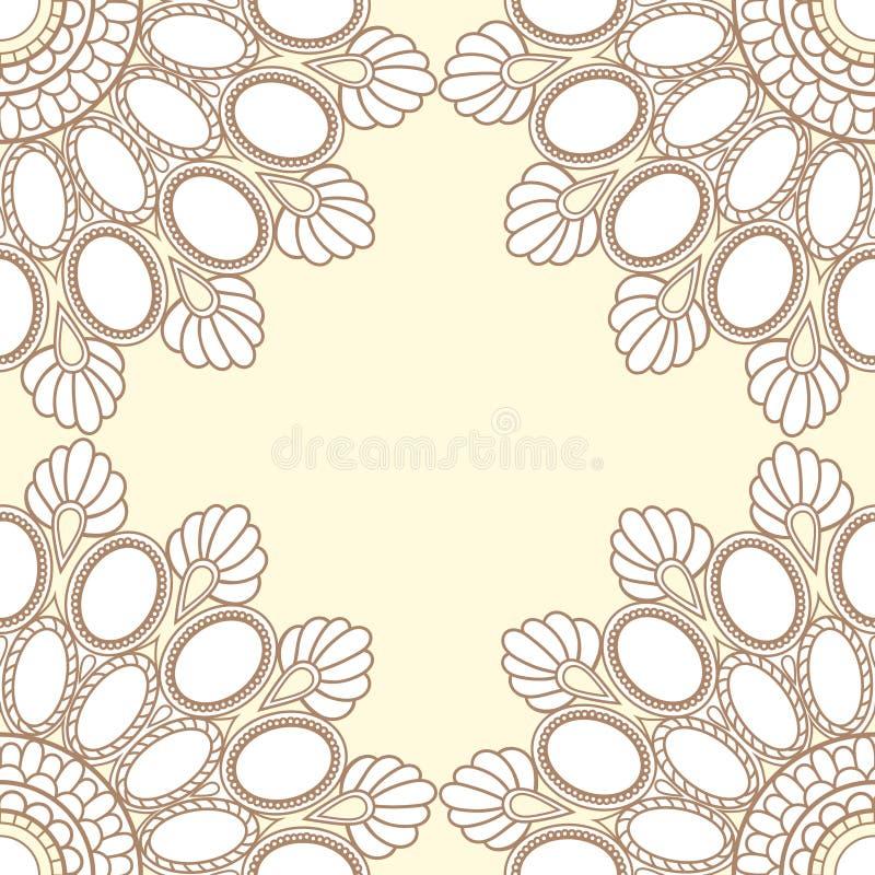 Décoration de mandala de cadre de gemmes de vanille image libre de droits
