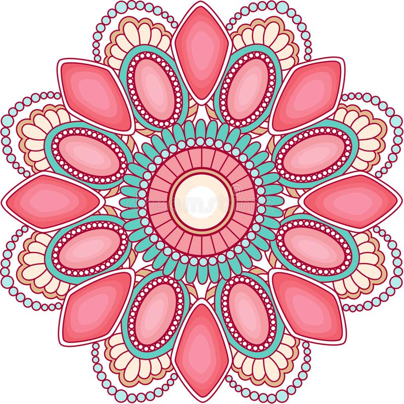 Décoration de mandala de gemmes pour la conception web images stock