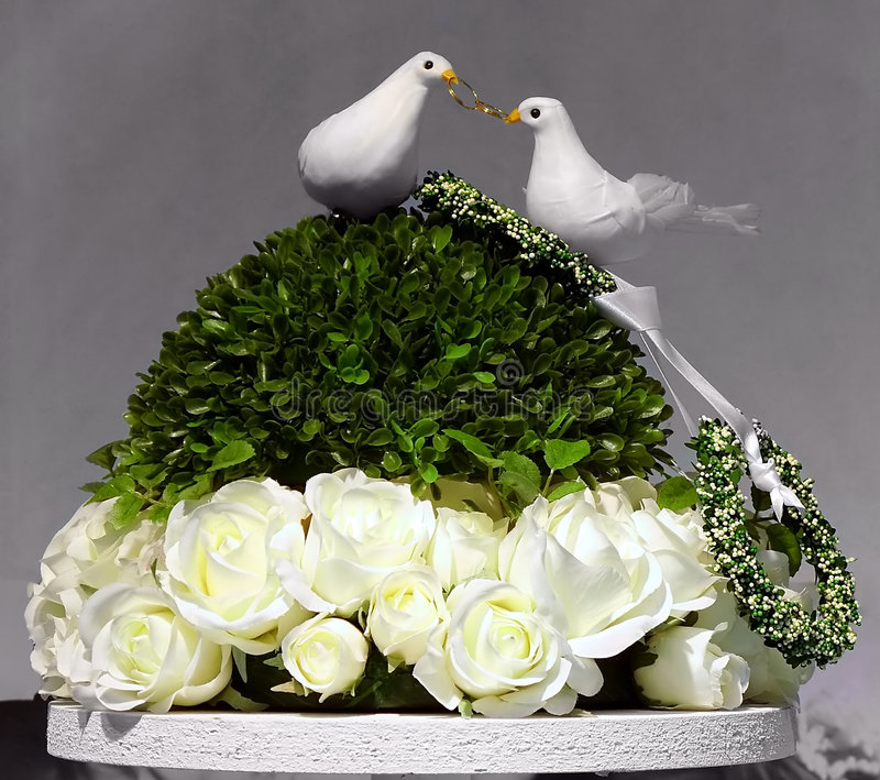 Décoration de mariage photo libre de droits