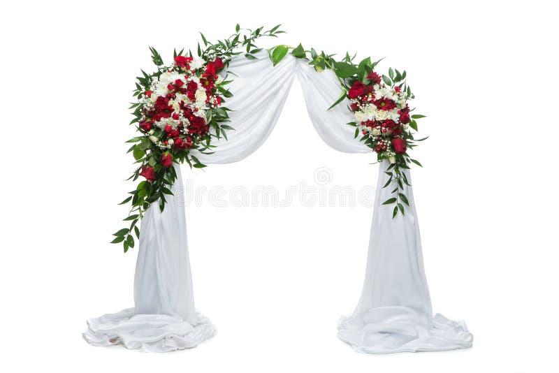 Décoration de mariage de voûte de fleur images libres de droits