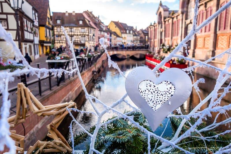 Décoration de Noël à Colmar photographie stock libre de droits
