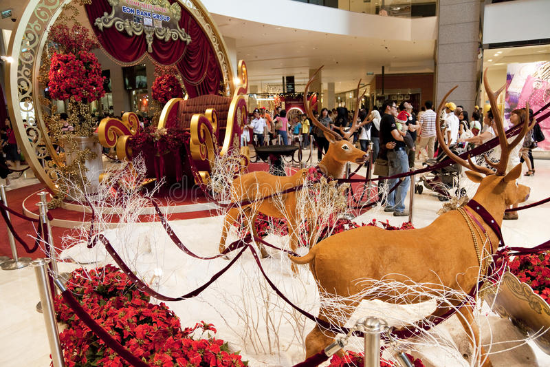 Décoration de Noël au complexe de magasins photos libres de droits