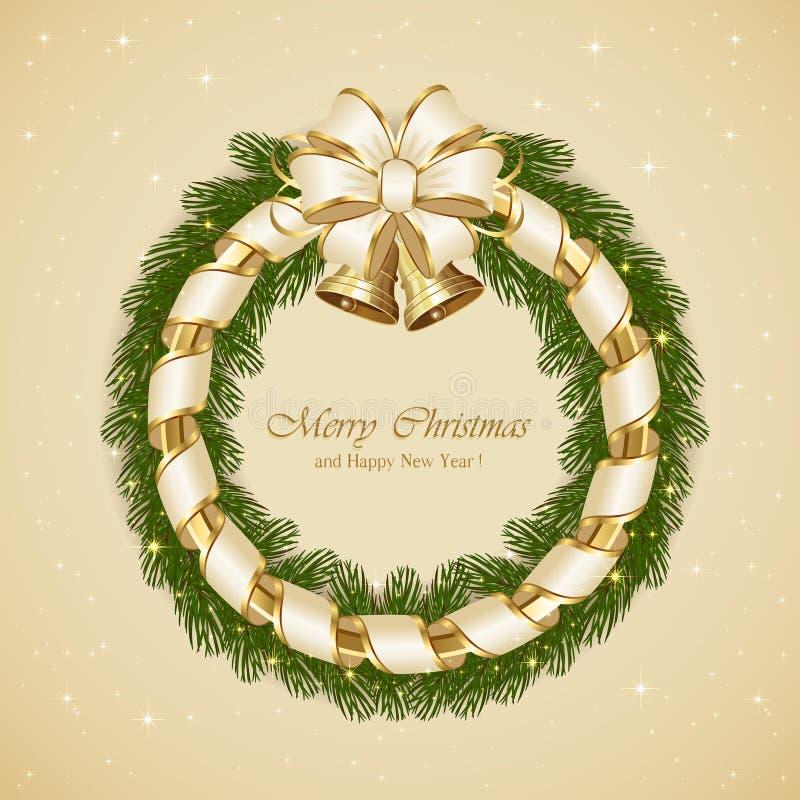 Download Décoration De Noël Avec Des Cloches Illustration de Vecteur - Illustration du fond, décorez: 45353354