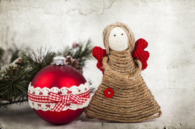 Décoration de Noël avec l'ange fait main images stock