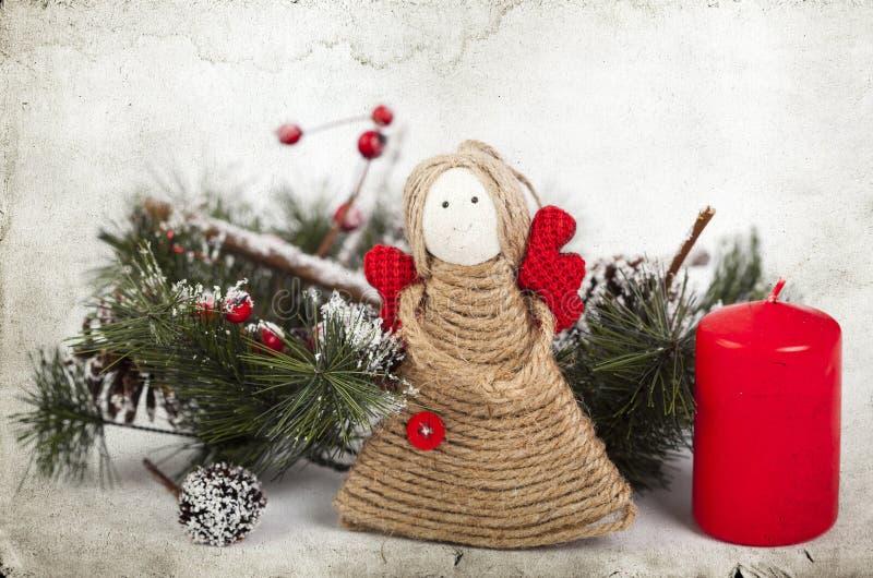 Décoration de Noël avec l'ange fait main photo libre de droits