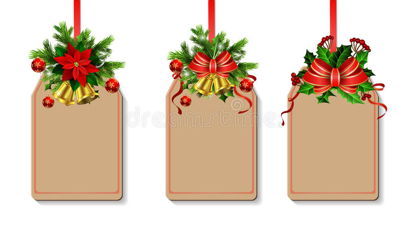 Décoration de Noël avec l'arc illustration de vecteur