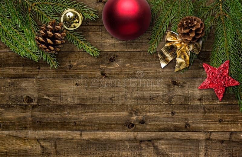 Décoration de Noël avec l'espace de copie image libre de droits