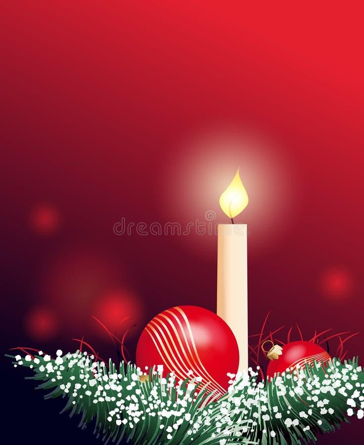 Décoration de Noël avec la bougie illustration stock