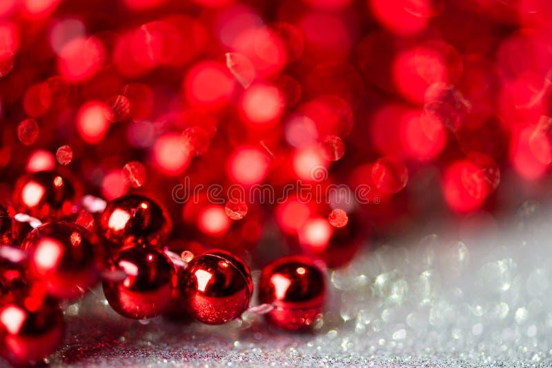 Décoration de Noël avec lumières de boules photo stock