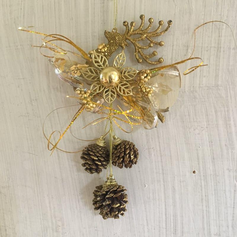 Décoration de Noël d'or image stock