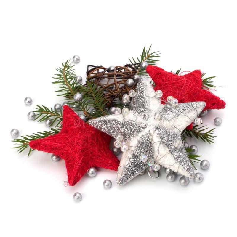 Décoration de Noël d'isolement sur le fond blanc photographie stock libre de droits