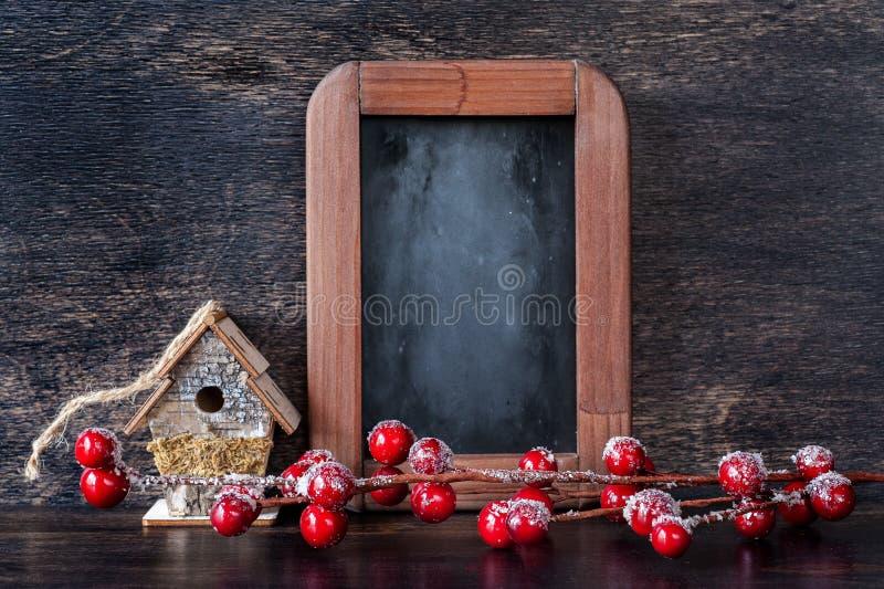 Décoration de Noël dans le style de vintage photo libre de droits
