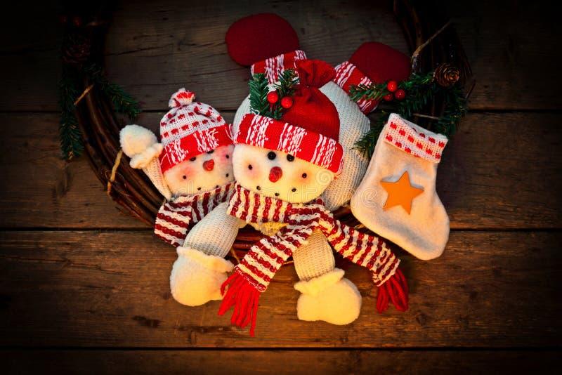 Décoration de Noël de bonhomme de neige image libre de droits