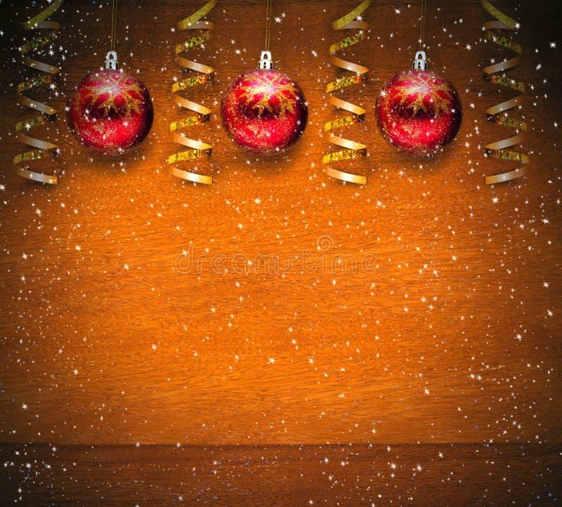 Décoration de Noël et boules rouges images stock