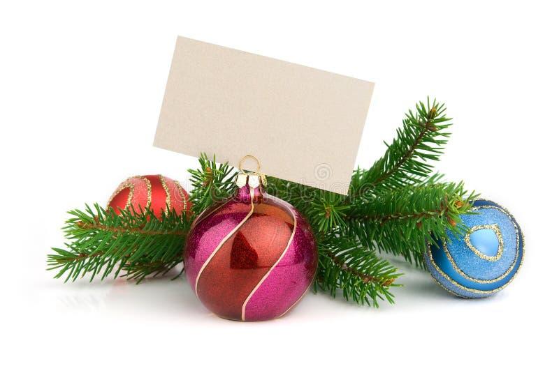 Décoration de Noël et carte de voeux photos stock