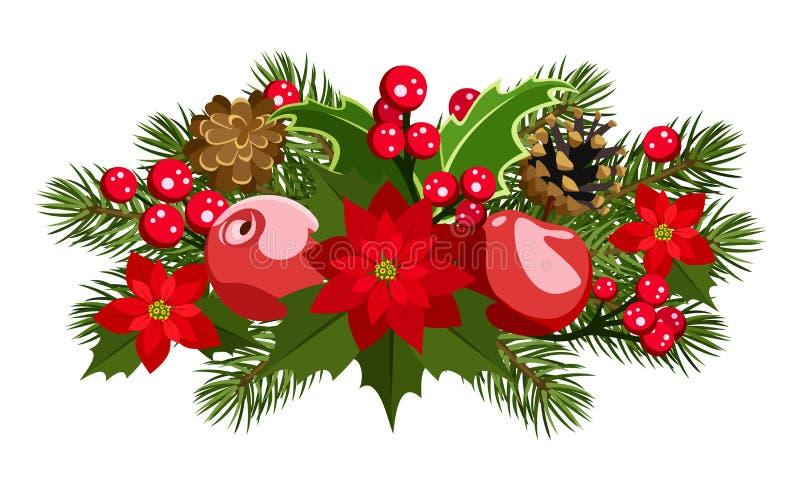 Décoration de Noël. Illustration de vecteur. illustration libre de droits
