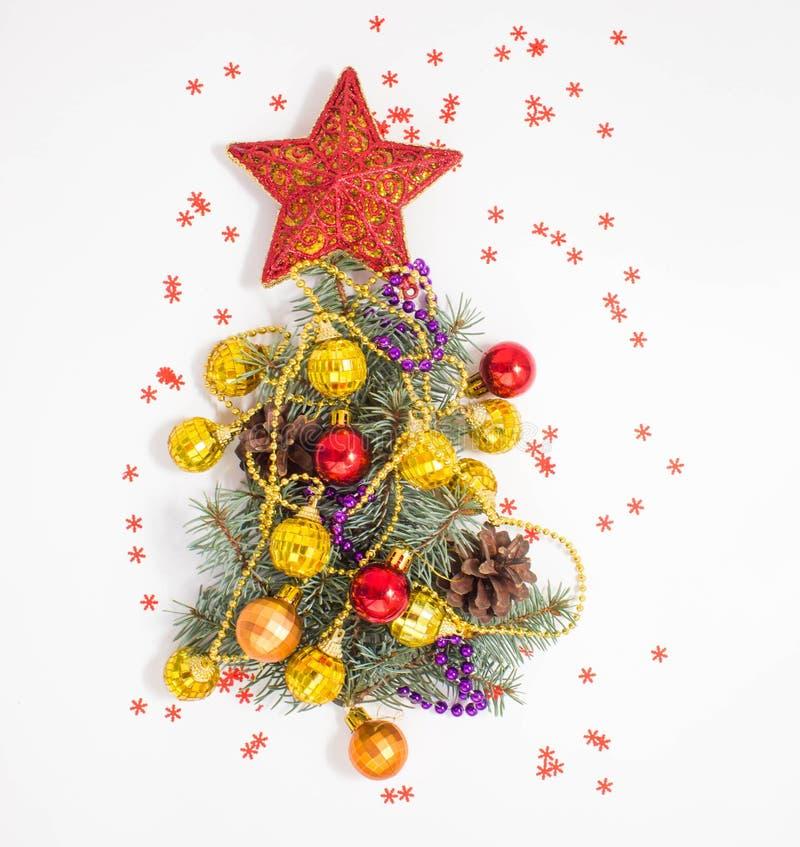 Décoration de Noël lumière de vacances de guirlande de décorations colorée par ampoules de fond allumée photo stock