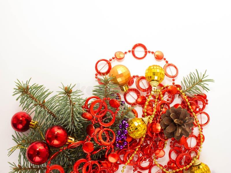 Décoration de Noël lumière de vacances de guirlande de décorations colorée par ampoules de fond allumée photos libres de droits