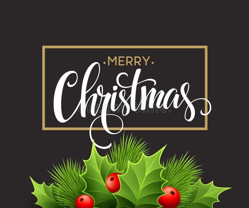 Décoration de Noël sur le panneau de craie Vecteur illustration de vecteur