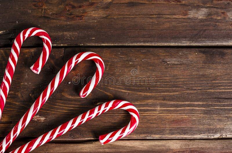 Décoration de Noël sur les conseils en bois image stock
