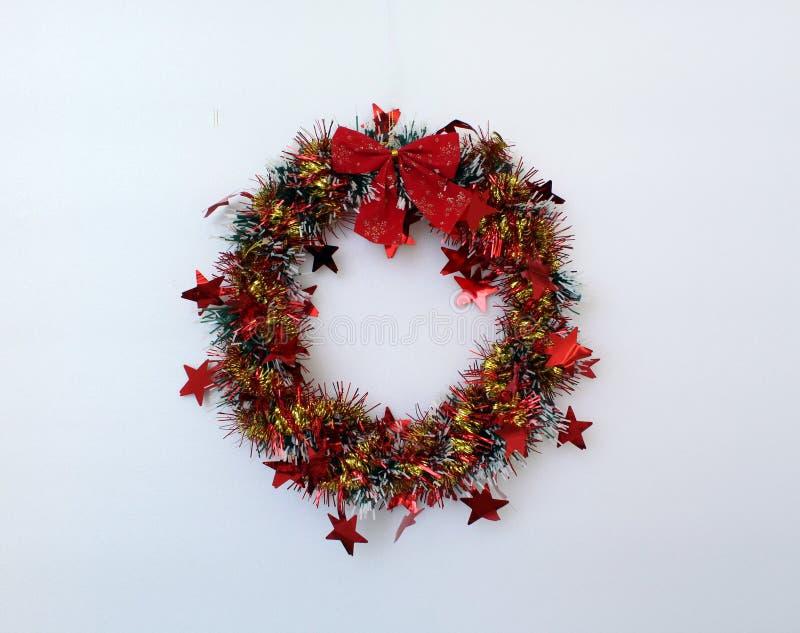 Décoration de Noël Un ornement, circulaire dans la forme photographie stock libre de droits