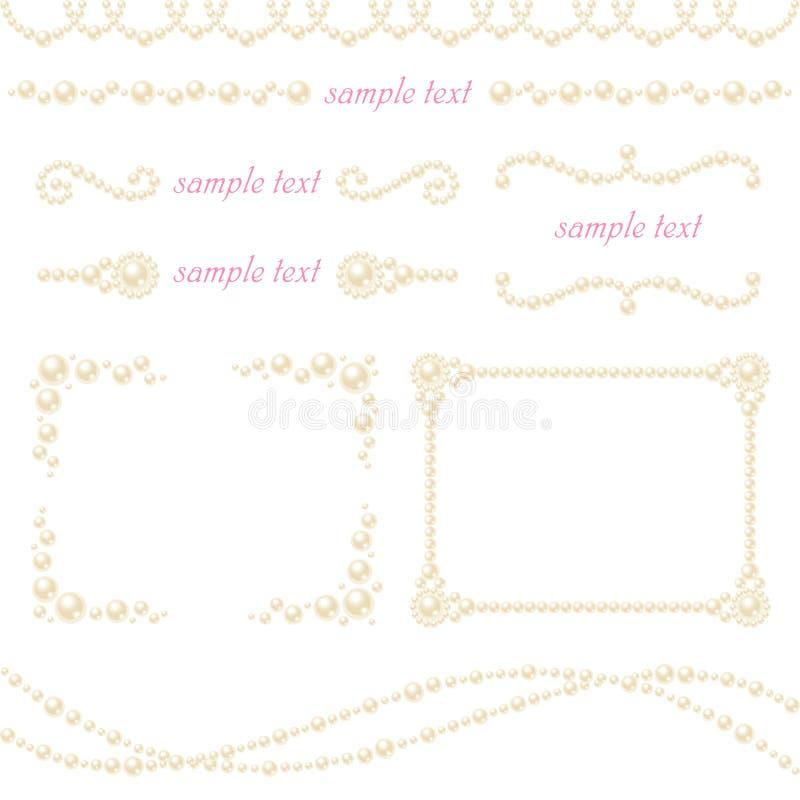 Décoration de perle illustration stock