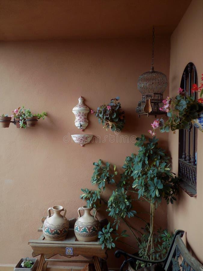 Décoration de porche photographie stock