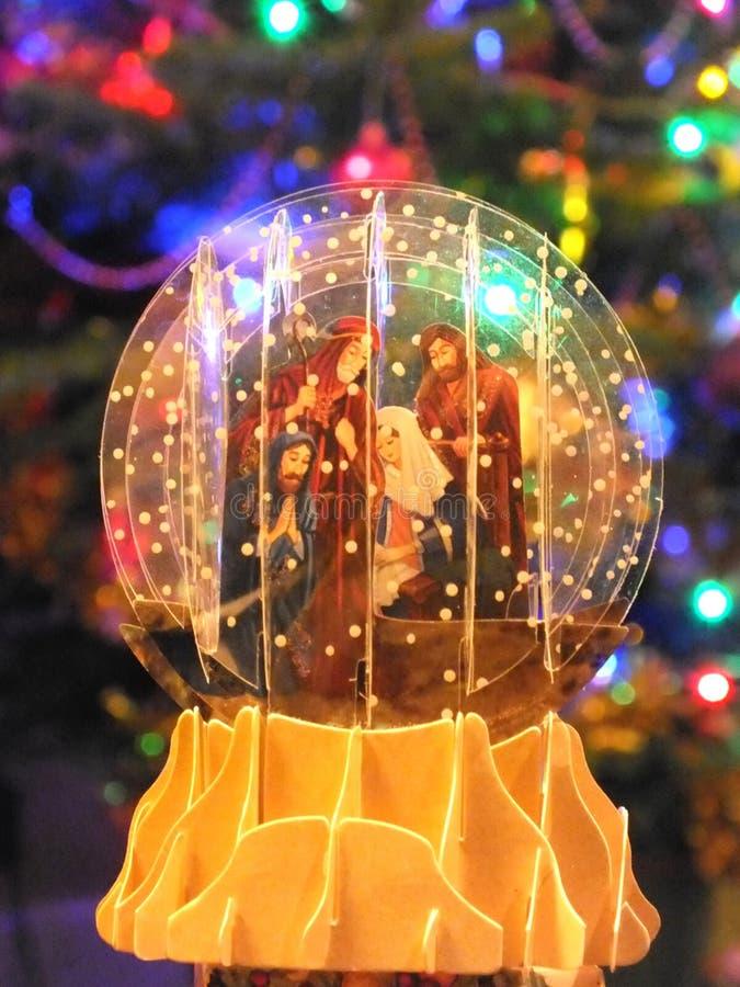 Décoration de scène de nativité de Noël images libres de droits