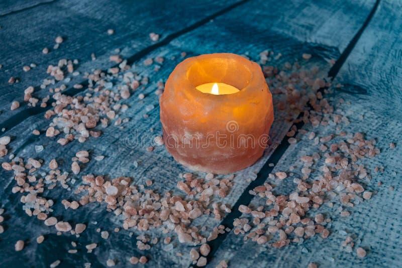 Décoration de sel de l'Himalaya photo stock
