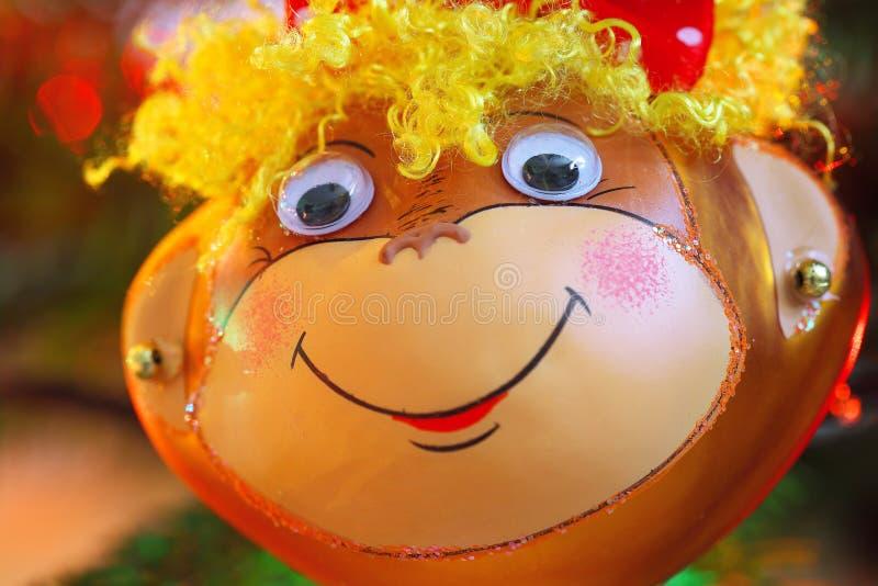 Décoration de sourire de chrismas de singe photos stock