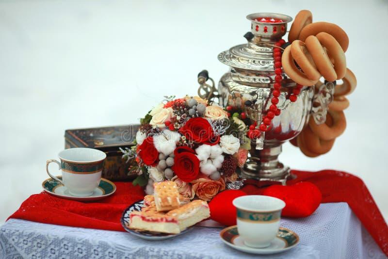 Décoration de table originale pour un thé image libre de droits