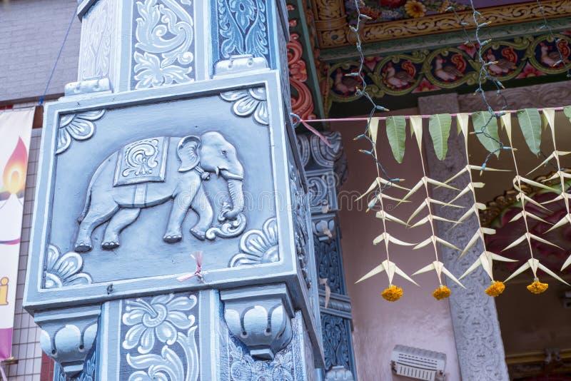 Décoration de temple indou image stock