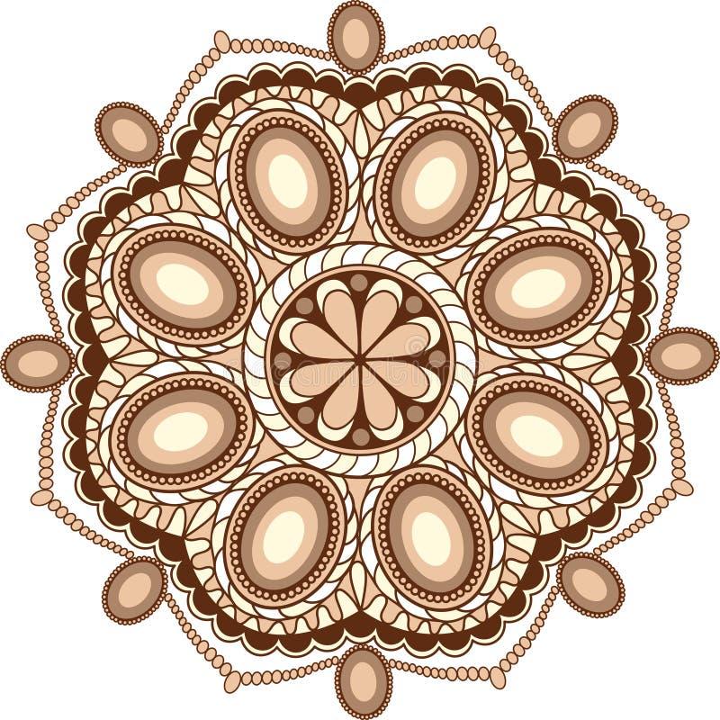 décoration douce de mandala de gemmes de café pour la conception web images libres de droits