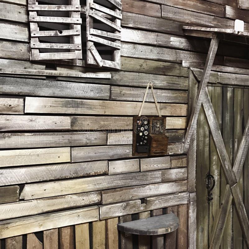 Décoration en bois image libre de droits